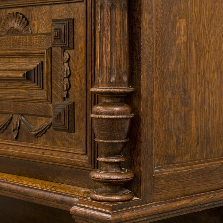 Antique French Buffet base (sideboard) style Henri II | Glossary Depot