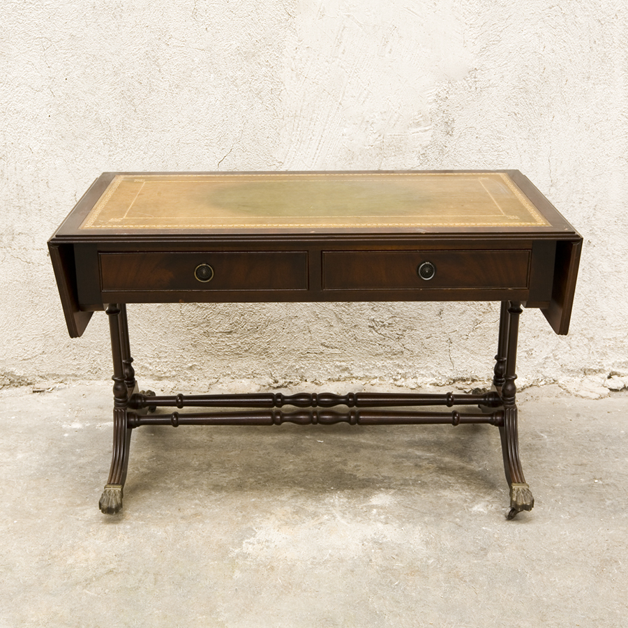 Low leather table style louis philippe sold glossary depot for Table louis philippe