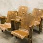 4 Старые стулья для кинотеатров, винтидж стиль
