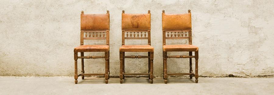 Кожени столове стил Анри II, края на XIX