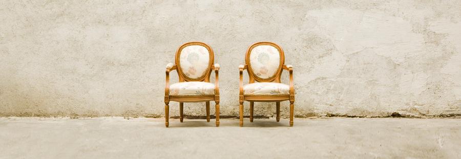 Чифт детски ръчно изработени фотьойли, стил Луи XVI
