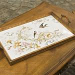 Табла с птички и цветя