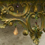 Wall mounted demilune console